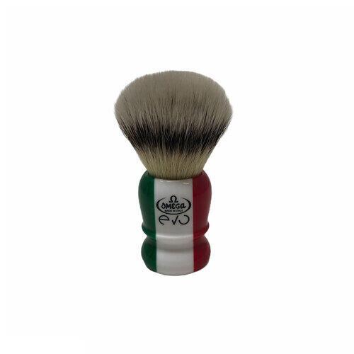 Pennello da Barba Fibra Sintetica Omega EVO Special Italian Flag E1882