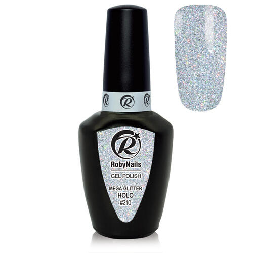 Gel Polish 210 Mega Glitter Holo Roby Nails 8 ml