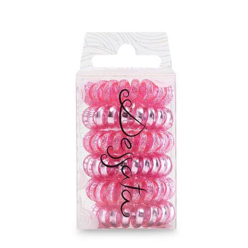 Kit Elastico Spirale Rosa Dessata 6 Pz