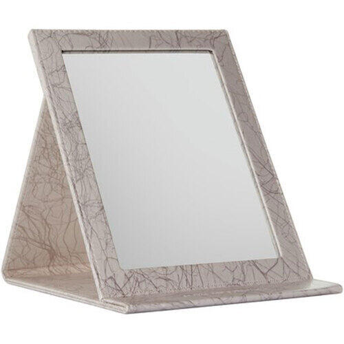 Specchio Rifinitura in Ecopelle modello Easel con Appoggio mis. 25x18