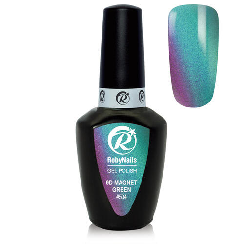 Smalto Semipermanente Gel Polish 9D Magnet Green 8 ml Roby Nails