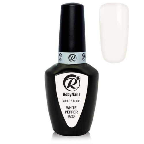 Gel Polish 230 White Pepper Roby Nails 8 ml
