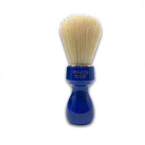 Pennello Barba Manico Blu Genziana Setola Sbiancata Zenith 507BG PP21