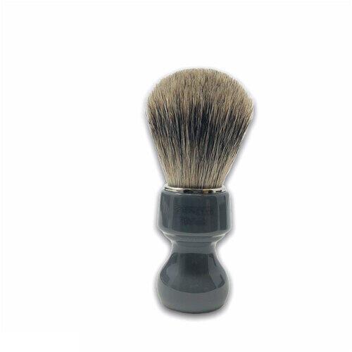 Pennello Barba Manico Grigio Fumo Ciuffo Best Badger Zenith 506GF PP21