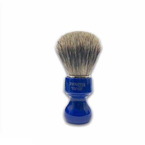 Pennello Barba Manico Blu Genziana Ciuffo Best Badger Zenith 506BG PP21