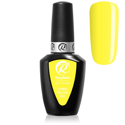 Gel Polish 248 Cyber Yellow Roby Nails 8 ml