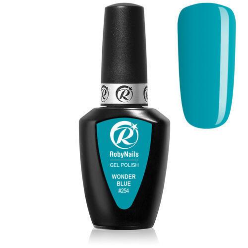Gel Polish 254 Wonder Blue Roby Nails 8 ml