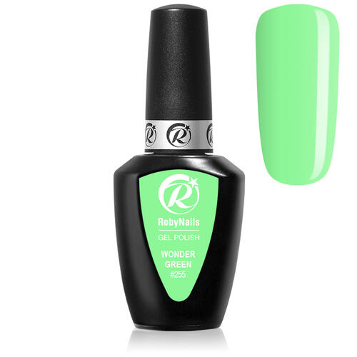 Gel Polish 255 Wonder Green Roby Nails 8 ml
